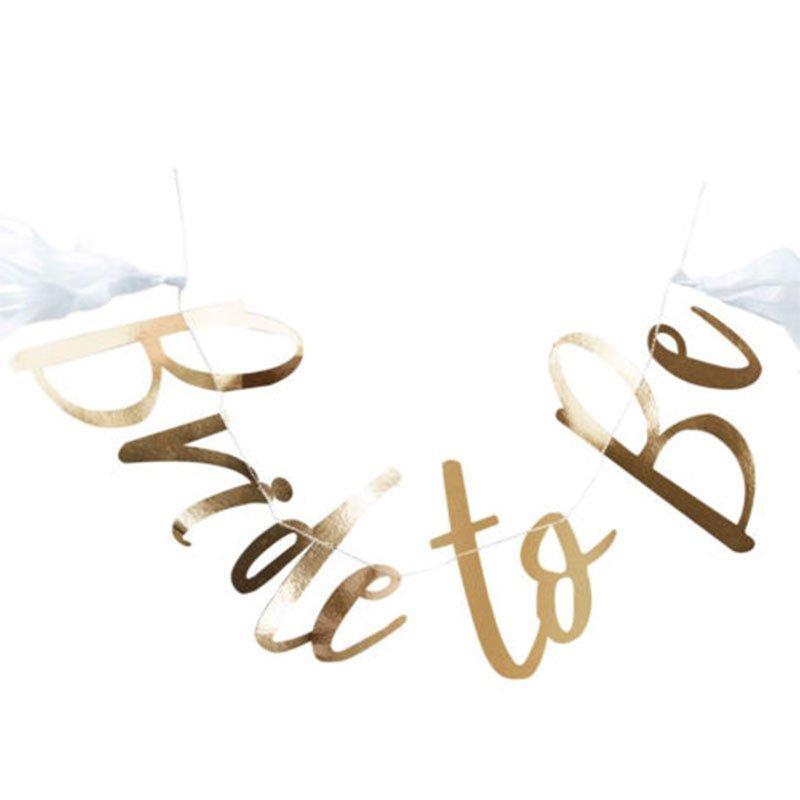 """Guirlande """"Bride to Be"""" dorée"""