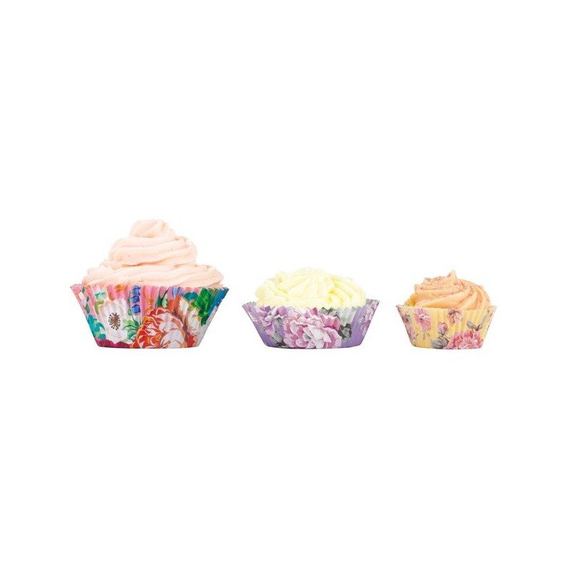 Moules à cupcakes fleurs (x60)