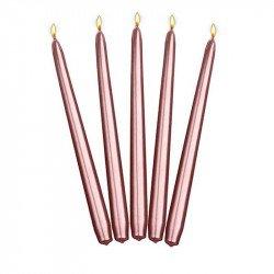 Bougies cierge métallisées - 24 cm (x10)