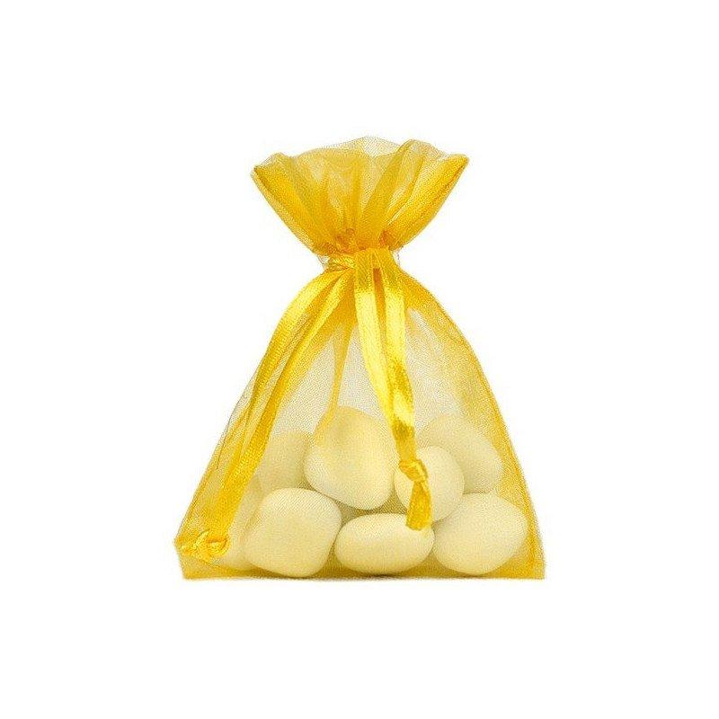 Sachet organdi jaune (x10)
