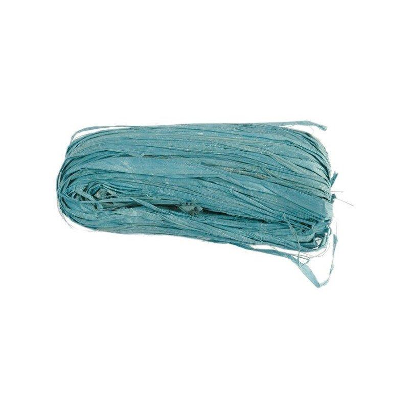 Raphia naturel couleur Turquoise
