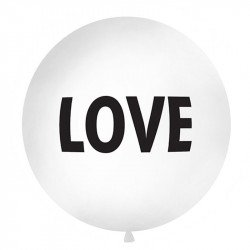 "Ballon rond XXL ""LOVE"" - 1M"