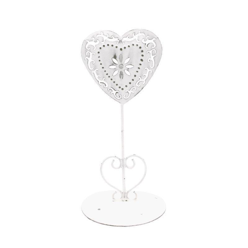 Marque table coeur blanc