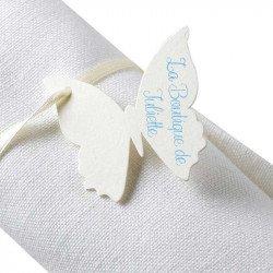 Marque-places papillon avec ruban (x10)