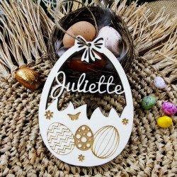 Marque-place Oeuf de Pâques à personnaliser