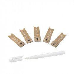Étiquettes fanion kraft et jute (x10)
