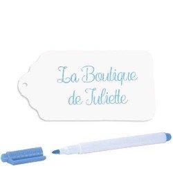 Etiquettes papier cartonné blanches (x24)