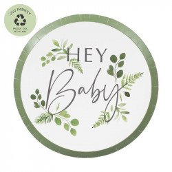"Assiettes ""Hey Baby"" (x8)"