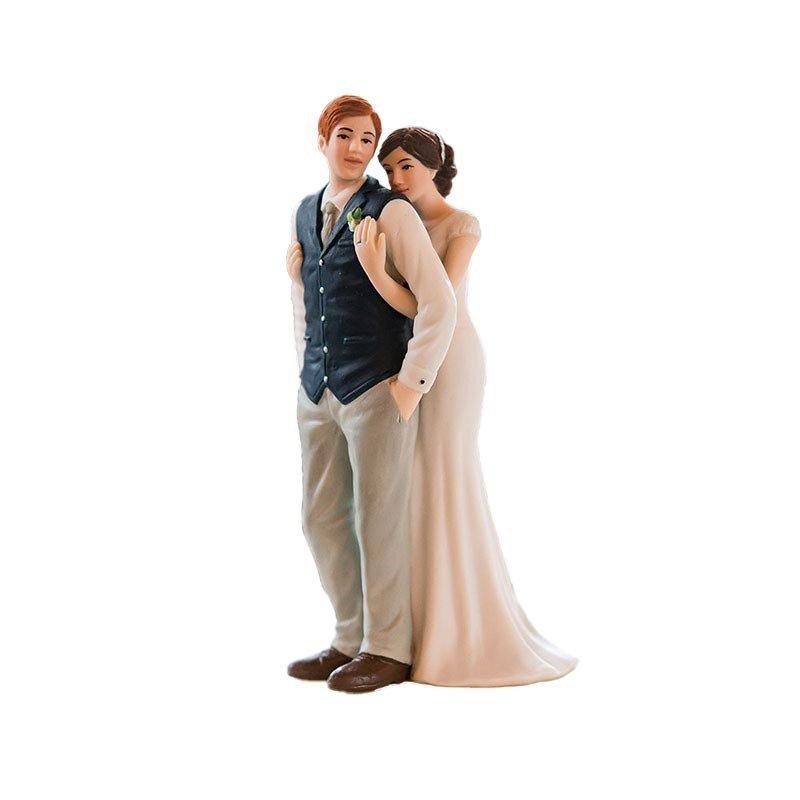 Figurine de mariés enlacés