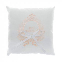 "Coussin Alliances ""Just Married"" rose gold"