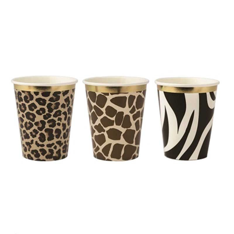Gobelets Safari assortis (x9)
