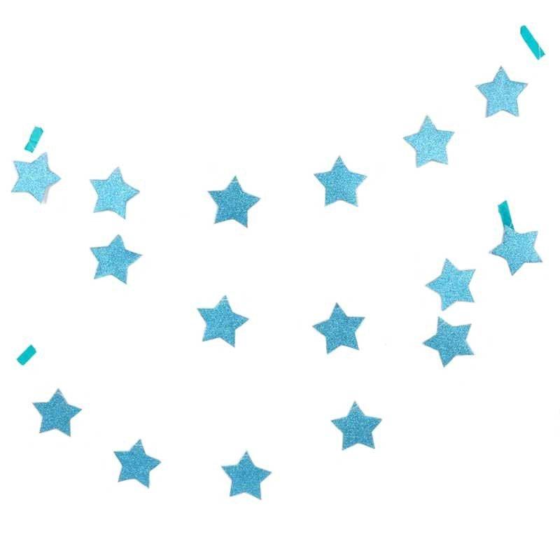 Guirlande étoilée brillante bleu
