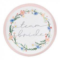 """Assiettes """"Team Bride"""" Boho Floral (x8)"""
