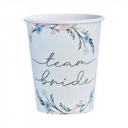 "Gobelets ""Team Bride"" Boho Floral (x8)"