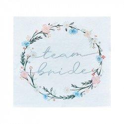 """Serviettes """"Team Bride"""" Boho Floral (x16)"""