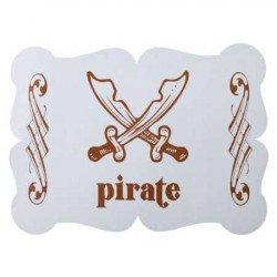 Dessous de table pirate bleu - 6 pièces
