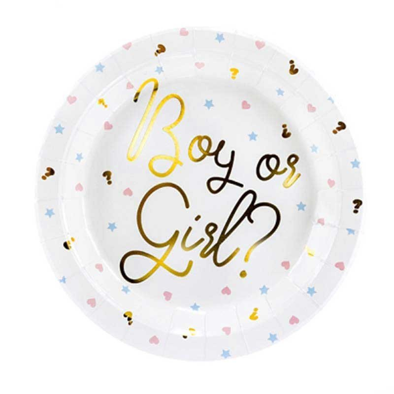 """6 Assiettes """"Boy or Girl"""""""