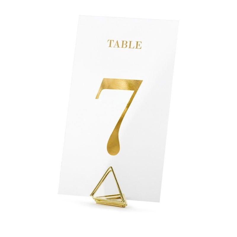 Numéros de table transparents et or (x20)