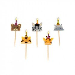 Bougies Animaux sauvages (x5)