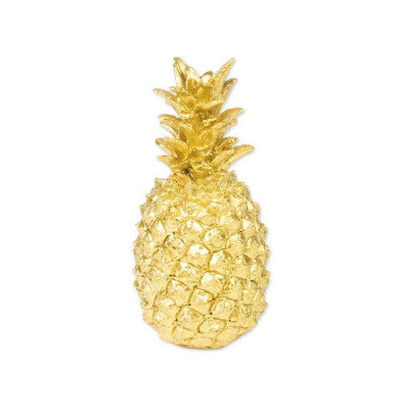 Ananas doré en résine - 18 cm