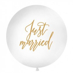 """Ballon rond """"Just Married"""" - 1M"""