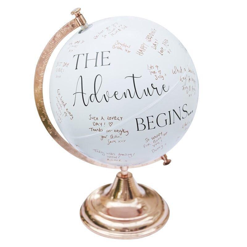 Globe Livre d'or blanc et rose gold