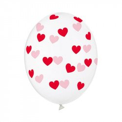 Ballons imprimés cœurs (x5)
