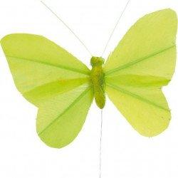 Papillons sur tige (x6) - Vert