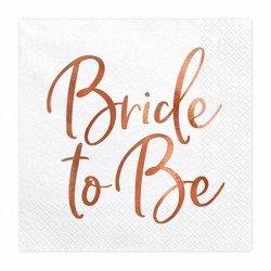 """Serviettes """"Bride to Be"""" (x20)"""