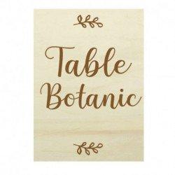 Nom de table Botanic - bois