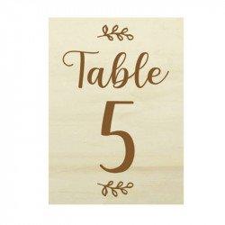 Numéro de table Botanic - Bois
