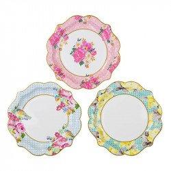 Assiettes fleurs (x12)