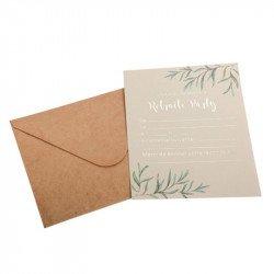 "Invitations ""Retraite Party"" + enveloppes (x8)"