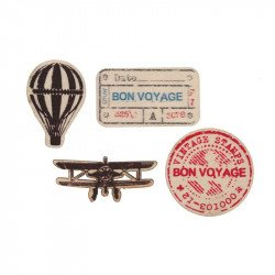 "Confettis en bois ""Bon Voyage"" (x20)"