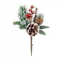 Branche de Noël enneigée