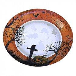 Assiettes Halloween Cimetière (x8)