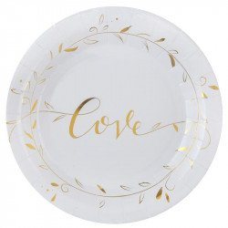 Assiettes Lovely (x10)