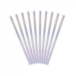 Pailles irisées (x10)