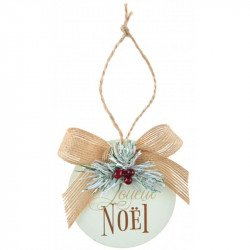 """Boules de Noël """"Joyeux Noël"""" (x3)"""