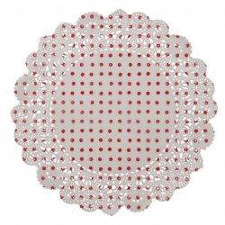 Napperon blanc et rouge