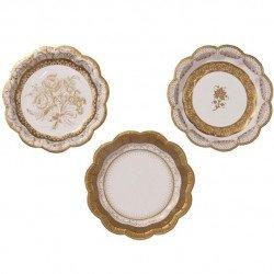 Petites assiettes dorées (x12)