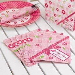 Serviettes rose bonbon - 20 unités