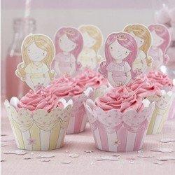 Décorations et pics à gâteau Princesse au Carrosse
