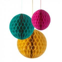 Nids d'abeilles colorés (x3)