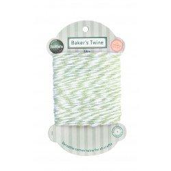 Cordelette coton bicolore - Vert pomme
