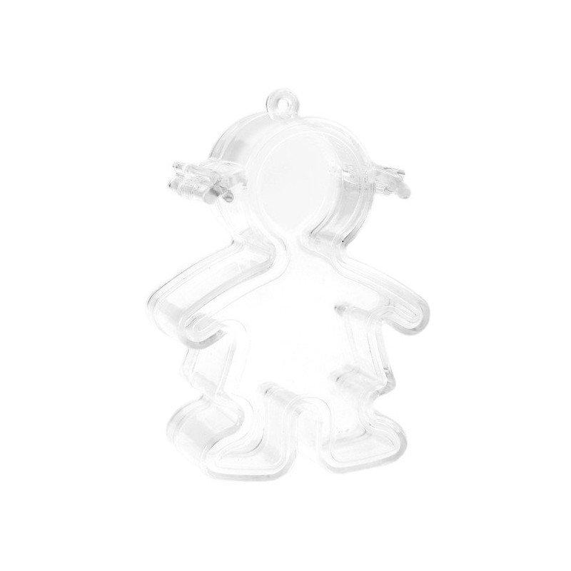 Boite transparente en forme de fille (x4)