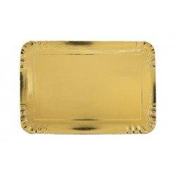 Plateaux rectangulaires dorés (x5)