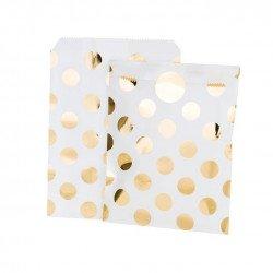 sacs à pois dorés - 12 unités