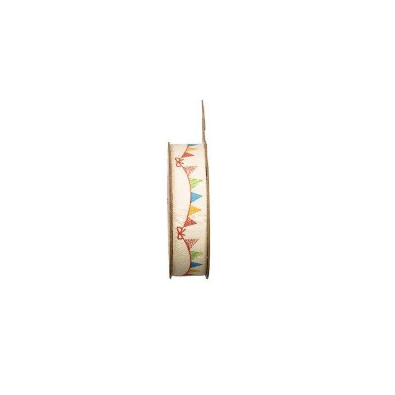 Ruban tissu adhésif guirlande fanions de 2 mètres