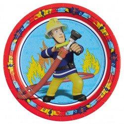 Assiettes Sam Le Pompier (x8)